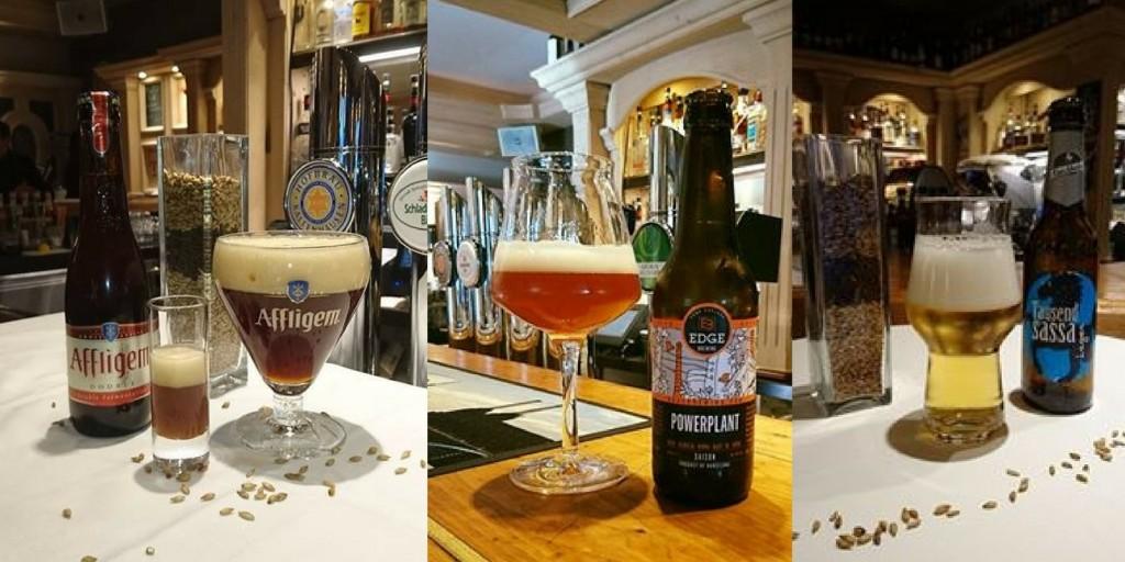 Craft Beer mit verschiedenen Gläsern