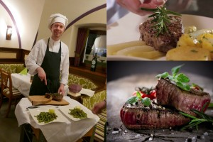 Kaiserhof-Küchenchef Alexander mit Tomahawk-Steak
